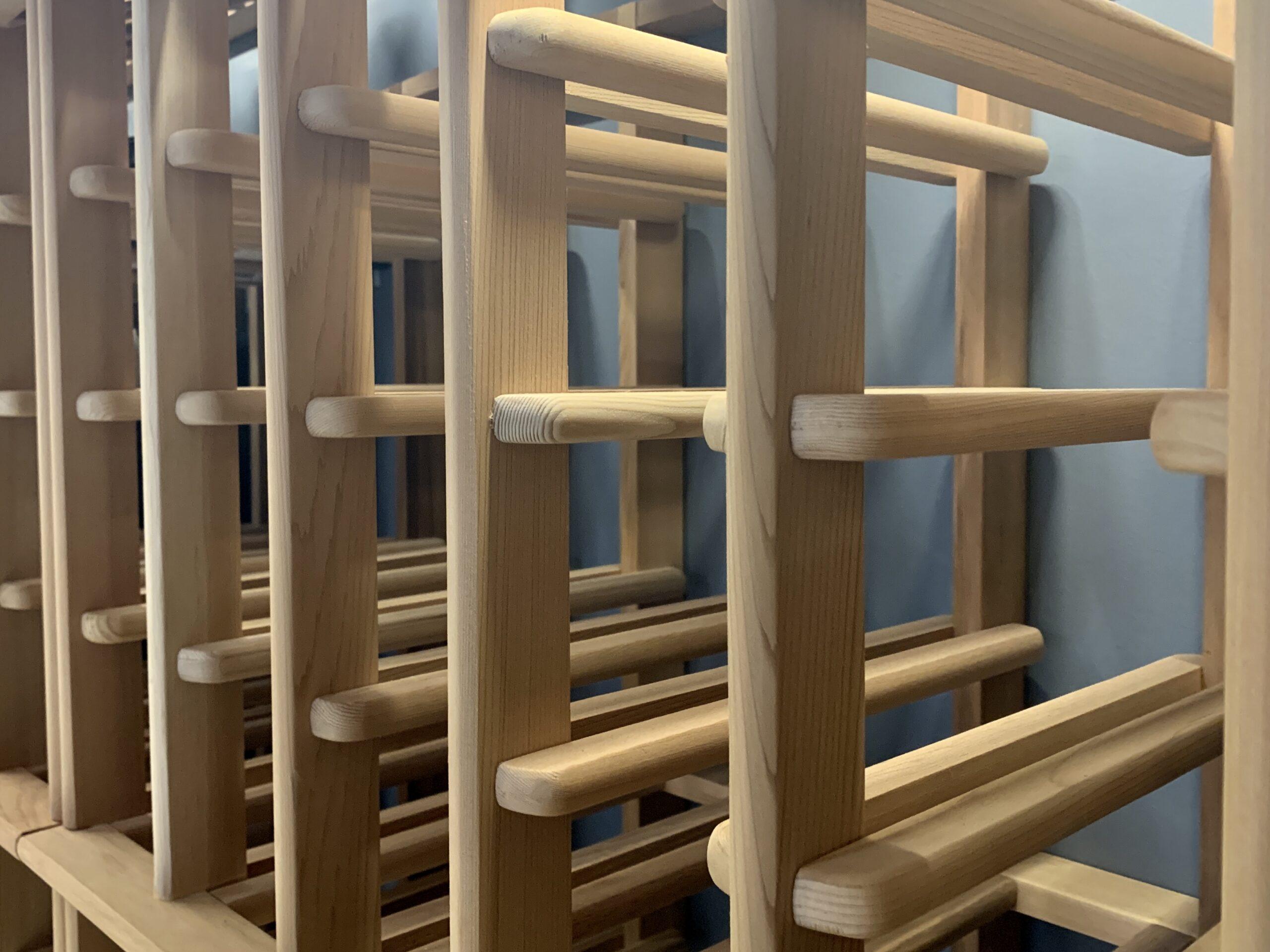 Wooden Wine Storage Detail