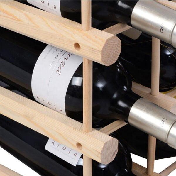Home Decoration Wooden Wine Rack 9 Bottle Detail