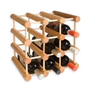 Home Decoration Wooden Wine Rack 9 Bottles