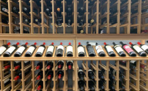 Wine Wall with Display Bottles