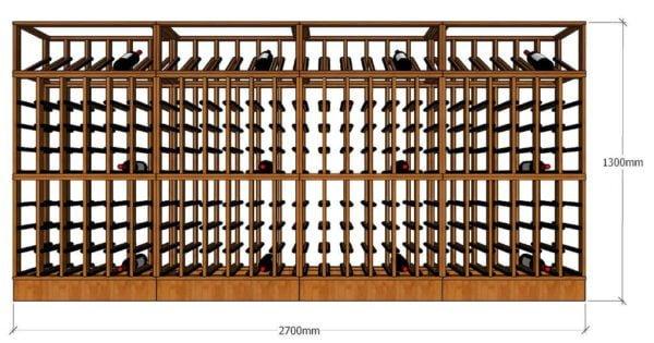 Full Wine Rack Design 2700