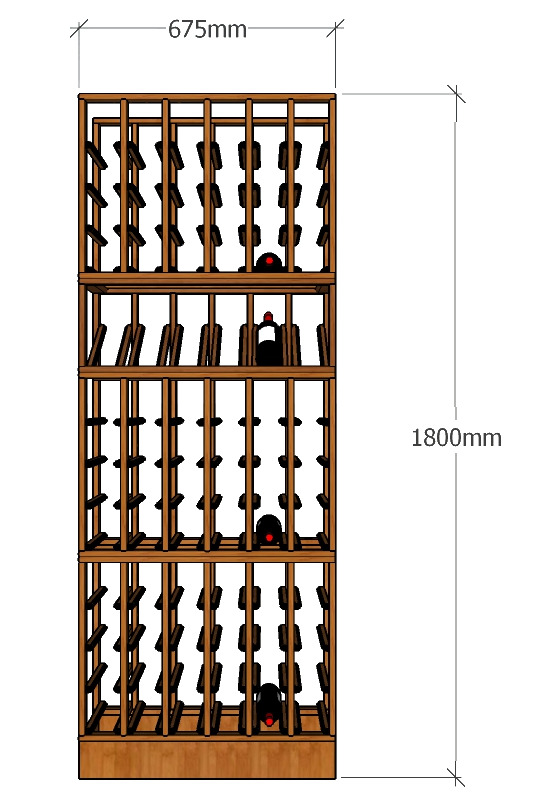 1800 Stack Full Wine Racking