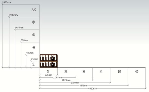 Wine Rack Display units Sizing to build your Cellar