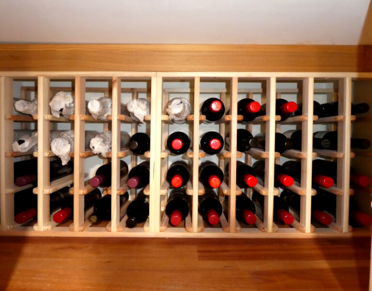 Original Wine Racking Framed and Filled