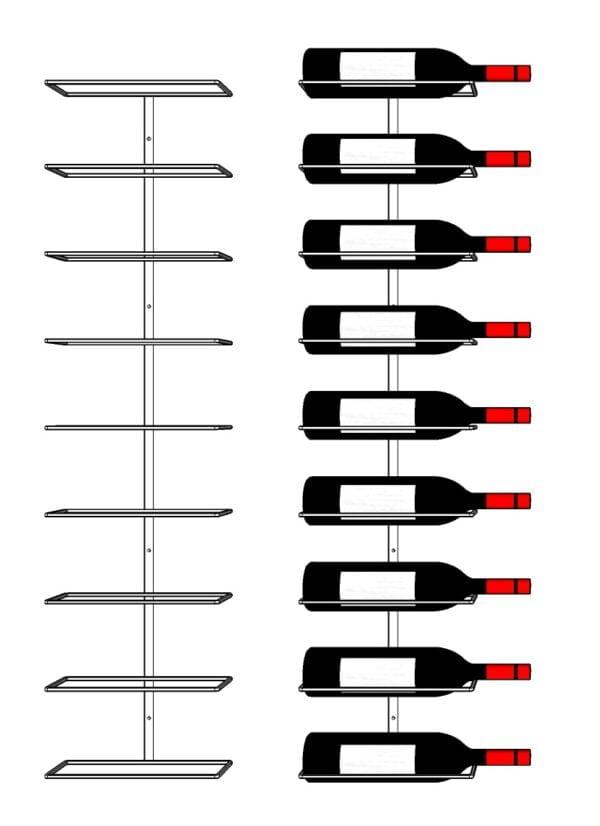 9 Bottle Metal Wine Rack